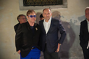 SIR ELTON JOHN; VICTOR PINCHUK, preview of Pinchuk Foundation's Future Generation Art Prize,     Palazzo Contarini PolignacVenice. Venice Bienalle. Thursday 30 May).