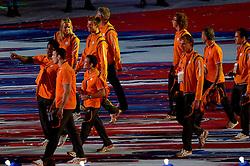 12-08-2012 ALGEMEEN: OLYMPISCHE SPELEN 2012 SLUITINGSCEREMONIE: LONDEN<br /> In het Olympisch Stadion werd met een sluitingsceremonie afscheid genomen van het succesvolle sportevenement. 80.000 Mensen in het stadion en miljoenen mensen thuis zagen een grote show met veel muziek en vuurwerk<br /> ©2012-FotoHoogendoorn.nl