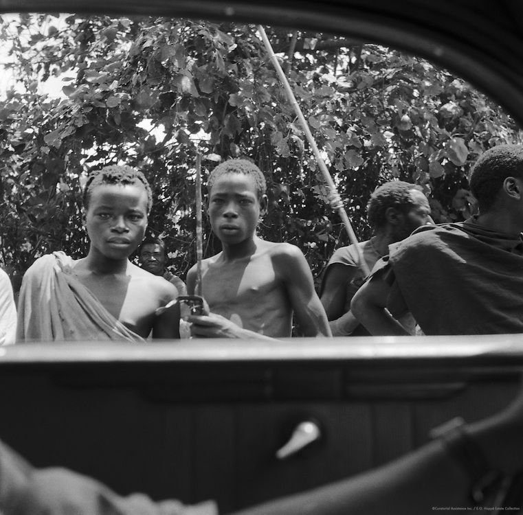 Boys Peering Into Car, Belgian Congo (now Democratic Republic of the Congo), Africa, 1937