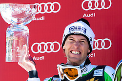 Second place for DOPFER Fritz of Germany at medal ceremony during the 2nd Run of Men's Slalom - Pokal Vitranc 2014 of FIS Alpine Ski World Cup 2013/2014, on March 9, 2014 in Vitranc, Kranjska Gora, Slovenia. Photo by Matic Klansek Velej / Sportida