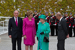 The Queen and Prince Phillip visit Aras an Uachtarain, welcomed by President Mary MacAleese