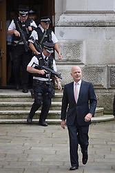 © licensed to London News Pictures. London, UK 27/08/2013. Foreign Secretary William Hague walking to Number 10 on Downing Street in London on Tuesday, 27 August 2013. Photo credit: Tolga Akmen/LNP