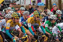 Start, Women, Cyclo-cross World Cup Hoogerheide, The Netherlands, 25 January 2015, Photo by Pim Nijland / PelotonPhotos.com