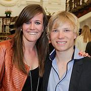 NLD/Amsterdam/20120326 - Inloop Schaatsgala 2012, Pim Schipper zijn partner Marit Dekker