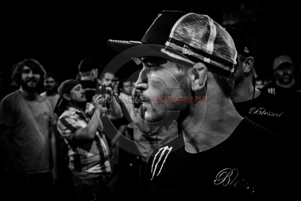 """SOUTHAVEN, TN, MAY 17, 2014: Action in and around the cage during """"Bellator 120: Rampage vs. King Mo"""" inside the Landers Center in Southaven, Tennessee (© Martin McNeil)"""