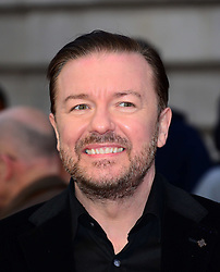 Ricky Gervais attends Muppets Most Wanted VIP film screening of sequel to last year's comedy, which sees the return of the Muppets as they embark on a global tour, getting caught up in an international crime caper at Curzon Mayfair, London, United Kingdom. Monday, 24th March 2014. Picture by Nils Jorgensen / i-Images