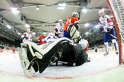 Andrej Hocevar of Slovenia during ice-hockey match between Slovenia and Norway in Slovenia Euro ice hockey challenge, on December 15, 2011 at Hala Tivoli, Ljubljana, Slovenia. Slovenia defeated Norway 4:1. (Photo By Matic Klansek Velej / Sportida)