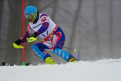 Michal BELADIC competing in the Alpine Skiing Super Combined Slalom at the 2014 Sochi Winter Paralympic Games, Russia