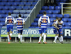 Reading celebrate Reading's Jamie Mackie's goal - Photo mandatory by-line: Robbie Stephenson/JMP - Mobile: 07966 386802 - 10/03/2015 - SPORT - Football - Reading - Madejski Stadium - Reading v Brighton - Sky Bet Championship
