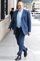 © Licensed to London News Pictures. 14/07/2019. London, UK. Liberal Democrat leadership contender Sir Ed Davey arrives at the BBC. Later he will appear on the Andrew Marr Show. Photo credit: George Cracknell Wright/LNP