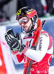 "29.01.2019, Planai, Schladming, AUT, FIS Weltcup Ski Alpin, Slalom, Herren, 2. Lauf, im Bild sieger Marcel Hirscher (AUT) // Winner Marcel Hirscher of Austria reacts after his 2nd run of men's Slalom ""the Nightrace"" of FIS ski alpine world cup at the Planai in Schladming, Austria on 2019/01/29. EXPA Pictures © 2019, PhotoCredit: EXPA/ JFK"