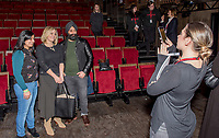 """Jo Joyner with fans at the brand new BBC Daytime drama Shakespeare & Hathaway – Private Investigators, is due to hit TV screens late February, 150 lucky people got the chance to view a private screening of the first episode.<br /> On Friday 9 February, The Other Place in Stratford-upon-Avon, an actual location featured in the drama, the venue to held the screening and, a special question and answer session hosted by Midlands Today presenter Rebecca Wood. She was joined by Jo Joyner, Mark Benton, Patrick Walshe McBride and the show's producer Ella Kelly.<br /> The ten-part drama from BBC Studios, created by Paul Matthew Thompson and Jude Tindall, will see Frank Hathaway (Benton), a hardboiled private investigator, and his rookie sidekick Luella Shakespeare (Joyner), form the unlikeliest of partnerships as they investigate the secrets of rural Warwickshire's residents.<br /> Beneath the picturesque charm lies a hotbed of mystery and intrigue: extramarital affairs, celebrity stalkers, missing police informants, care home saboteurs, rural rednecks and murderous magicians. They disagree on almost everything, yet somehow, together, they make a surprisingly effective team – although they would never admit it.<br /> Will Trotter, head of BBC Daytime Drama at the BBC Drama Village, comments, """"For years we have been producing quality drama at the BBC Drama Village, and Shakespeare & Hathaway is no different. It's the perfect programme to indulge in, and like many of the programmes that we make in Birmingham, we've been out and about in the county to film in some of the best locations the Midlands has to offer. <br /> """"We're looking forward to seeing the audience reactions to the first episode, it's got a whodunit storyline with a brilliant introduction to the main characters, but leaves you with some questions which makes the audience want to come back for more!"""" <br /> Notes to editors<br /> For more information on the series you can contact hollie.druce@bbc.co.uk. <br /> Qu"""