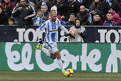 February 10, 2019 - Madrid, Madrid, Spain - CD Leganes's Martin Braithwaite during La Liga match between CD Leganes and Real Betis Balompie at Butarque Stadium in Madrid, Spain. February 10, 2019. (Credit Image: © A. Ware/NurPhoto via ZUMA Press)