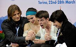 23.03.2010, Torino Palavela, Turin, ITA, ISU World Figure Skating Championships Turin 2010, Paarlauf, im Bild Stefania Berton e Ondrej Hotarek (ITA), EXPA Pictures © 2010, PhotoCredit: EXPA/ InsideFoto/ Perottino / SPORTIDA PHOTO AGENCY