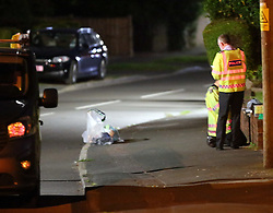 eybourne Lane in Bagshot Lea  showing Police investigation following a collision. <br /> The collision involved a single vehicle and a walker. The Vauxhall van struck the pedestrian who had stepped off the pavement.<br /> The incident happened just after 8.20 pm this evening Tuesday. <br /> <br /> <br /> <br /> The walker was hit by the vehicle. Police at the scene said the driver did stopped . The walker was taken to Southampton General Hospital with serious injuries head and leg injures. The road was ealed off by Police  for a number of hours with a  police car blocking each end.<br /> <br /> Shocked home owners on the road have said that the road is  a  rat  run. It&rsquo;s  an accident waiting to happen. There are skid marks up and down the road I have lost count the. number of time vehicle have nearly hit each other or people trying to cross the road they use it as a rat run to the miss out the traffic to get up not to the Farnham by pass.<br /> <br /> Police closed the road for a number of hours whilst Crash scene investigators carried out skid tests on the vehicle and measurement on the road.<br /> Police say they  have spoke to the driver of the vehicle but would not confirm if he had been arrested for any offences. The road reopened just after 1.30am on Wednesday morning.