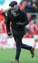 Bristol City head coach Lee Johnson  celebrates at the full time whistle after beating Ipswich Town 1-0- Mandatory by-line: Nizaam Jones/JMP - 17/03/2018 - FOOTBALL - Ashton Gate Stadium- Bristol, England - Bristol City v Ipswich Town - Sky Bet Championship