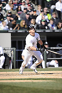 CHICAGO - APRIL 04:  Gordon Beckham #15 of the Chicago White Sox bats against the Kansas City Royals on April 4, 2013 at U.S. Cellular Field in Chicago, Illinois.  The Royals defeated the White Sox 3-1 .  (Photo by Ron Vesely)   Subject: Gordon Beckham