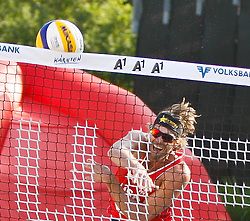 06.08.2011, Klagenfurt, Strandbad, AUT, Beachvolleyball World Tour Grand Slam 2011, im Bild Matt Fuerbringer USA, AUT , EXPA Pictures © 2011, PhotoCredit EXPA Gert Steinthaler