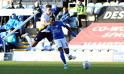 Siriki Dembele of Peterborough United in action with Alex Gorrin of Oxford United - Mandatory by-line: Joe Dent/JMP - 08/02/2020 - FOOTBALL - Weston Homes Stadium - Peterborough, England - Peterborough United v Oxford United - Sky Bet League One