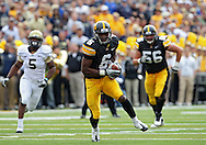 September 17, 2011: Iowa Hawkeyes wide receiver Keenan Davis (6) pulls in a pass during the first half of the game between the Iowa Hawkeyes and the Pittsburgh Panthers at Kinnick Stadium in Iowa City, Iowa on Saturday, September 17, 2011. Iowa defeated Pittsburgh 31-27.