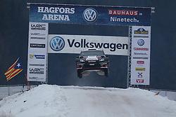 08.02.2014, Hagfors, Karlstad, SWE, FIA, WRC, Schweden Rallye, Tag 4, im Bild Ott Tanak/Raigo Molder (M-Sport WRT/Fiesta RS WRC), Action / Aktion, Jump, Sprung // during Day 4 of the FIA WRC Sweden Rally at the Hagfors in Karlstad, Sweden on 2014/02/08. EXPA Pictures © 2014, PhotoCredit: EXPA/ Eibner-Pressefoto/ Bermel<br /> <br /> *****ATTENTION - OUT of GER*****