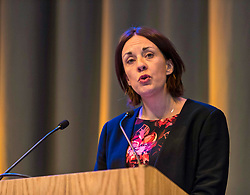 Scottish Labour leader Kezia Dugdale speaking at the mental health conference Wellbeing @ Work Event at Assembly Rooms in Edinburgh