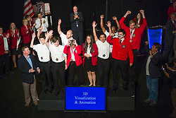 The 2017 SkillsUSA National Leadership and Skills Conference Competition Medalists were announced Friday, June 23, 2017 at Freedom Hall in Louisville. <br /> <br /> 3-D Visualization and Animation<br /> <br /> 	Team U (consisting of Laeticcia Le, Soren Sandblom)<br />   High School	 Center For Technology<br />   Gold	 Essex Junction, VT<br /> 3-D Visualization and Animation	Team D (consisting of Tyler Allen, Keith Takens)<br />   High School	 Kent Career/Tech Center<br />   Silver	 Grand Rapids, MI<br /> 3-D Visualization and Animation	Team A (consisting of Nicholas Johnson, Matthew Shaw)<br />   High School	 Mid-Coast School of Technology<br />   Bronze	 Rockland, ME<br /> 3-D Visualization and Animation	Team F (consisting of Micah Sonne, Logan Price)<br />   College	 Orange Technical College - Mid-Florida Campus<br />   Gold	 Orlando, FL<br /> 3-D Visualization and Animation	Team C (consisting of Geremy Brantley, Allen Paulo)<br />   College	 Wiregrass Georgia Tech College<br />   Silver	 Valdosta, GA<br /> 3-D Visualization and Animation	Team D (consisting of Kevin Roddy, Robert Riparip)<br />   College	 Macomb Community College<br />   Bronze	 Warren, MI