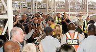 Enrique Iglesias signing posters for his fans at his arrival at laseria aiport.08 September 2010,.Lasaria Aiport, Johannesburg, South Africa,.Photo by :Abbey Sebetha/SPORTZPICS/CLT20