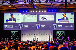 January 11, 2019 - Chicago, IL, U.S. - CHICAGO, IL - JANUARY 11: Frankie Amaya speaks after being selected as the number one overall pick to FC Cincinnati in the first round during the MLS SuperDraft on January 11, 2019, at McCormick Place in Chicago, IL. (Photo by Patrick Gorski/Icon Sportswire) (Credit Image: © Patrick Gorski/Icon SMI via ZUMA Press)