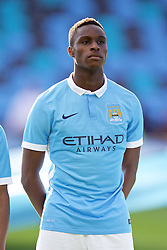 MANCHESTER, ENGLAND - Tuesday, September 15, 2015: Manchester City's Rodney Kongolo before the UEFA Youth League Group D match against Juventus at the City of Manchester Stadium. (Pic by David Rawcliffe/Propaganda)