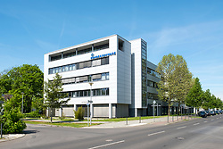 Rohde and Schwarz electronics manufacturer at Adlershof Science and Technology Park  Park in Berlin, Germany