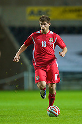 SWANSEA, ENGLAND - Friday, September 4, 2009: Wales' Ched Evans in action against Italy during the UEFA Under 21 Championship Qualifying Group 3 match at the Liberty Stadium. (Photo by David Rawcliffe/Propaganda)