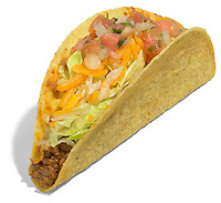 taco bell crunchy taco with salsa