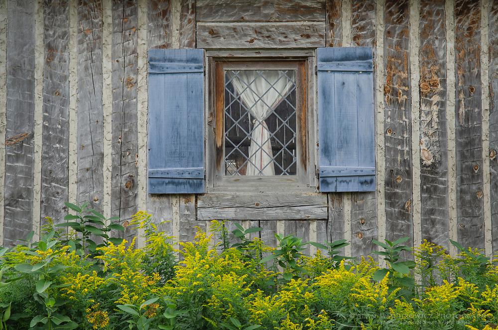 Gardens of Colonial Michilimackinac, Mackinaw City Michigan.