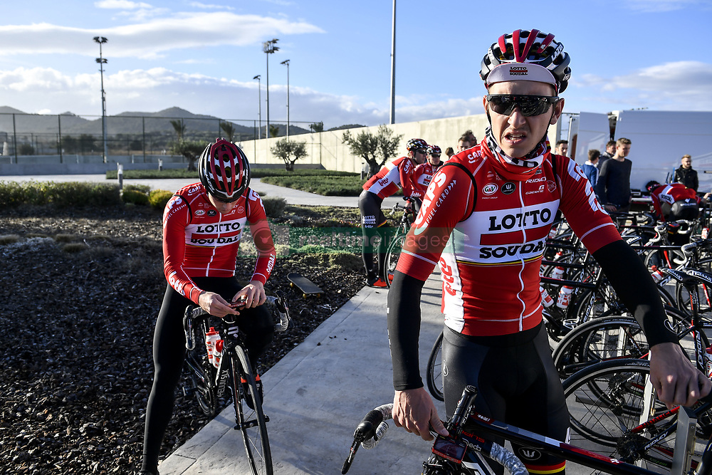 December 15, 2017 - Majorca, SPAIN - Belgian Jasper De Buyst of Lotto Soudal pictured in action during a press day during Lotto-Soudal cycling team stage in Mallorca, Spain, ahead of the new cycling season, Friday 15 December 2017. BELGA PHOTO DIRK WAEM (Credit Image: © Dirk Waem/Belga via ZUMA Press)