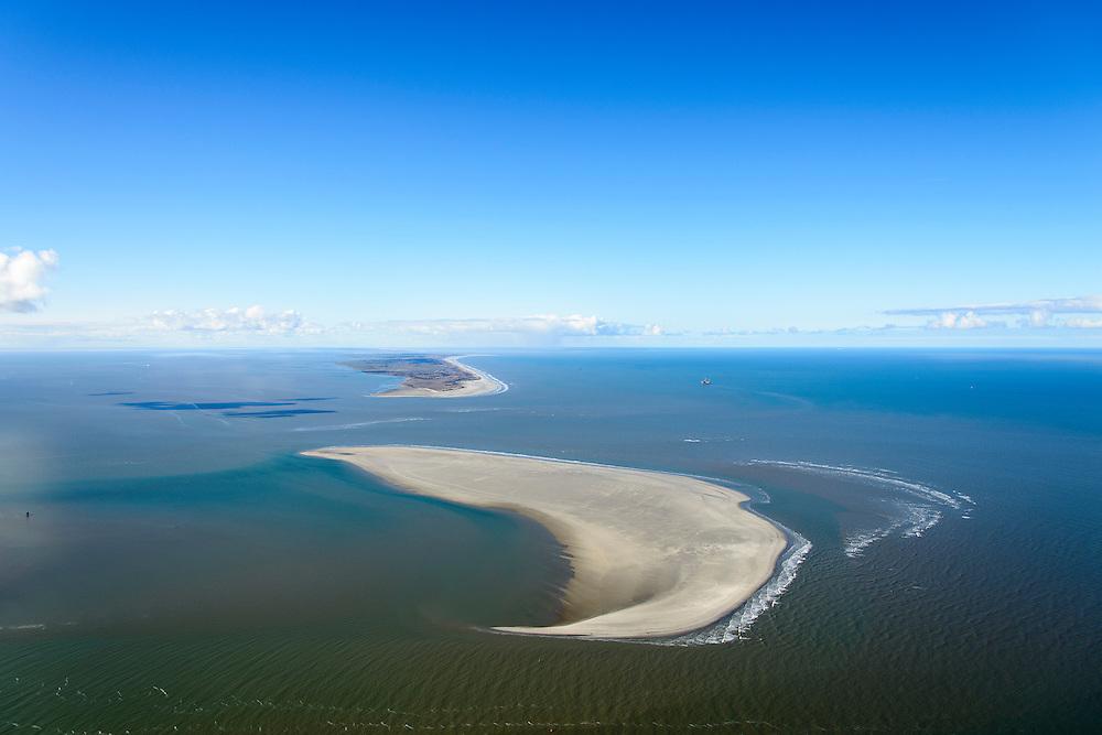 Nederland, Friesland, Waddenzee, 28-02-2016;<br /> Het Friese Zeegat met zandplaat Het Rif gezien vanaf Schiermonnikoog naar Ameland<br /> Wadden sea between Schiermonnikoog and Ameland (on the horizon), with sandbank.<br /> <br /> luchtfoto (toeslag op standard tarieven);<br /> aerial photo (additional fee required);<br /> copyright foto/photo Siebe Swart