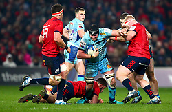 Mitch Lees of Exeter Chiefs in action against John Ryan of Munster Rugby - Mandatory by-line: Ken Sutton/JMP - 19/01/2019 - RUGBY - Thomond Park - Limerick,  - Munster Rugby v Exeter Chiefs -