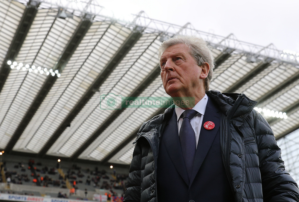 Crystal Palace manager Roy Hodgson during the Premier League match at St James' Park, Newcastle.