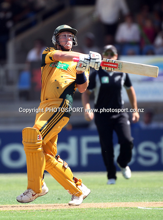 Australia's Cameron White batting.<br />