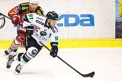 Matt White (HDD Telemach Olimpija, #97) during ice-hockey match between EC KAC and HDD Telemach Olimpija in 1st Round of EBEL League in Season 2014 / 15 on September 12, 2014 in Sporthalle KAC, Klagenfurt, Slovenia. Photo by Matic Klansek Velej / Sportida