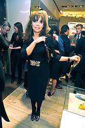 JEANNE MARINE at a Champagne & chocolate party hosted by Roger Vivier at their store in Sloane Street, London on 12th February 2009.  The evening was in aid of The Silver Lining charity.