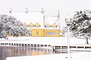 Picture of Outer Banks Whale Head Club  in a rare snow storm.