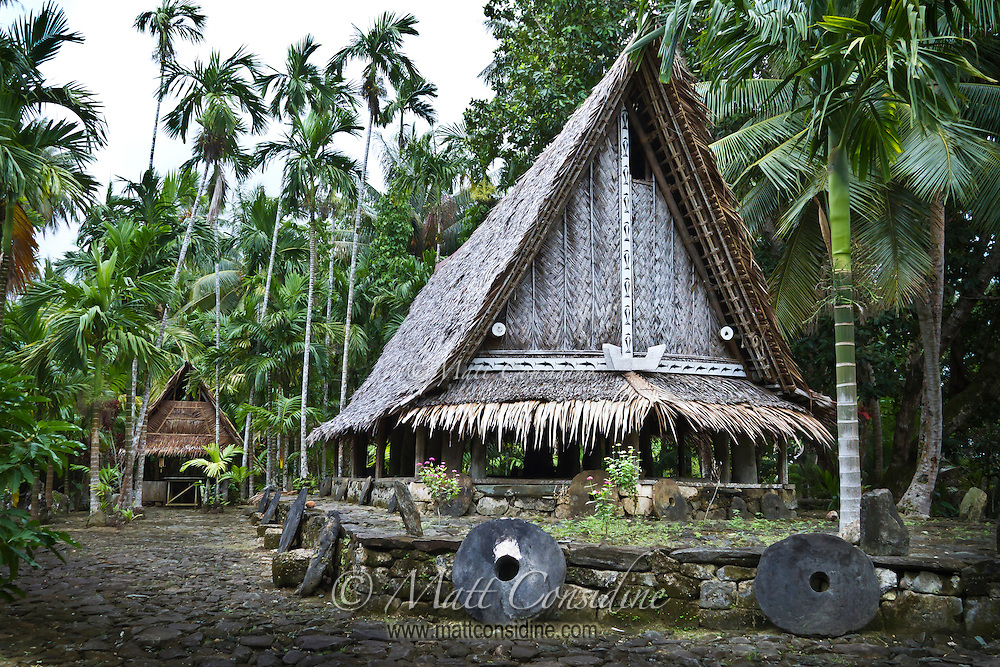 Each piece of stone money has a name and a story.  Some stone money is more valuable than others, depending on the difficulties, heroism and lives lost obtaining and transporting the money, Yap Micronesia. (Photo by Matt Considine - Images of Asia Collection)