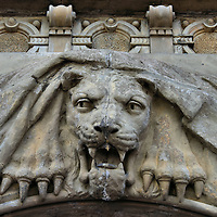 Lion Carving at Brandvgt in Kristiansand, Norway <br />