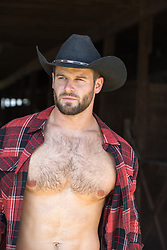 rugged cowboy with open shirt