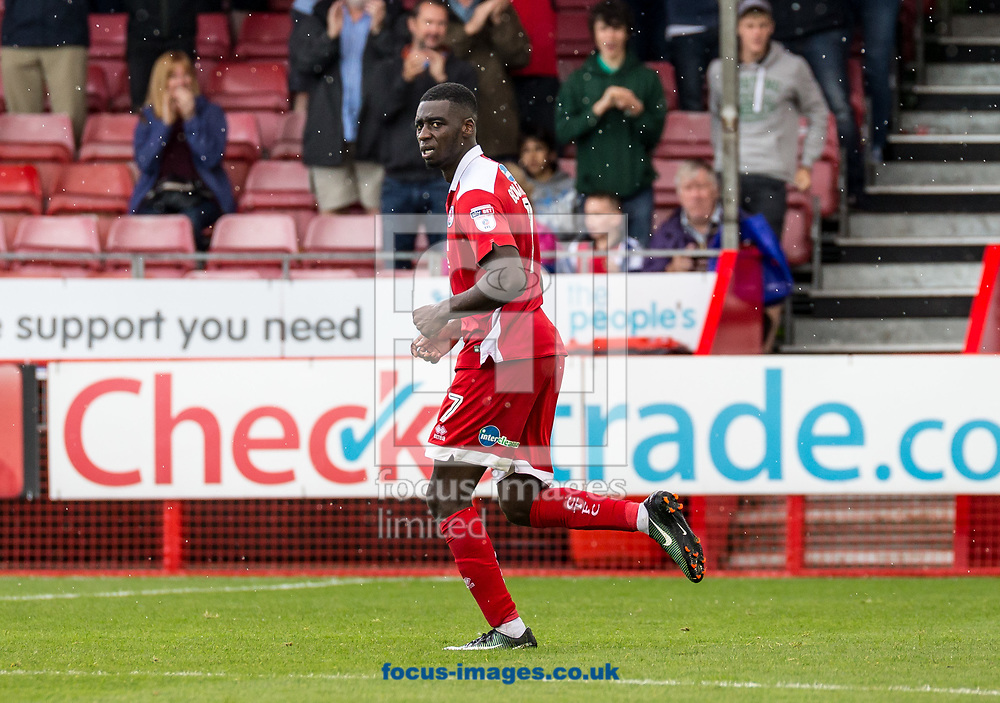 Enzio Boldewijn of Crawley Town after his goal during the Sky Bet League 2 match at  Checkatrade.com Stadium, Crawley<br /> Picture by Liam McAvoy/Focus Images Ltd 07413 543156<br /> 05/08/2017