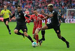 20170916, 1.BL. FCB vs Mainz 05, 1.Bundesliga, Allianz Arena Muenchen, Fussball, Sport, im Bild:...Stefan Bell (Mainz05), Franck Ribery (FCB) und  Jean Philippe Gbamin (Mainz 05)..*Copyright by:  Philippe Ruiz..Postbank Muenchen.IBAN: DE91 7001 0080 0622 5428 08..Oberbrunner Strasse 2.81475 MŸnchen, .Tel: 089 745 82 22, .Mobil: 0177 29 39 408..( MAIL:  philippe_ruiz@gmx.de ) ..Homepage: www.sportpressefoto-ruiz.de. (Credit Image: © Philippe Ruiz/Xinhua via ZUMA Wire)