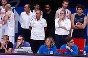 Ettore Messina, Sandro Senzameno<br /> Raduno Nazionale Maschile Senior<br /> Allenamento mattina<br /> Trento, 29/07/2017<br /> Foto Ciamillo-Castoria/ M. Brondi