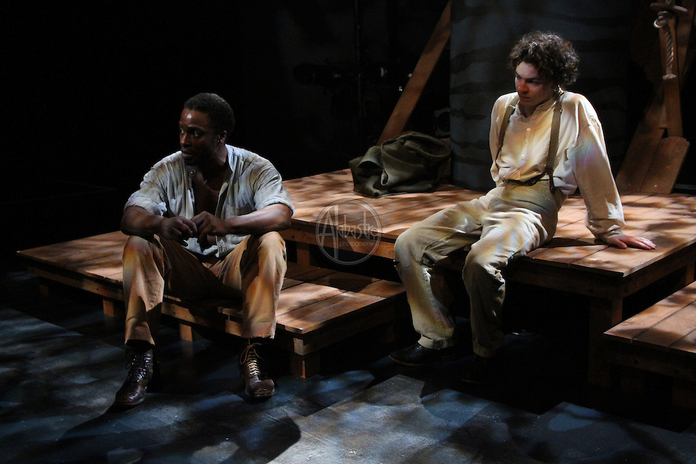 "Book-It Repertory Theatre's production of ""Adventures of Huckleberry Finn: Uncensored""."