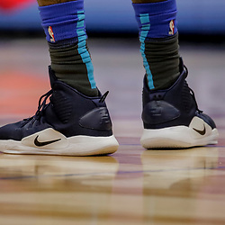 Dec 5, 2018; New Orleans, LA, USA; Shoes worn by Dallas Mavericks center DeAndre Jordan during the third quarter against the New Orleans Pelicans at the Smoothie King Center. Mandatory Credit: Derick E. Hingle-USA TODAY Sports
